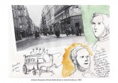 Le Baron Haussmann, photo et dessin