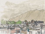 Lamasery's roofs, Xiahe, 1