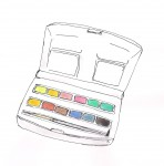 Small Travel-size Watercolor Box